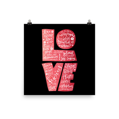 Love Is Patient - Poster-10×10-Made In Agapé