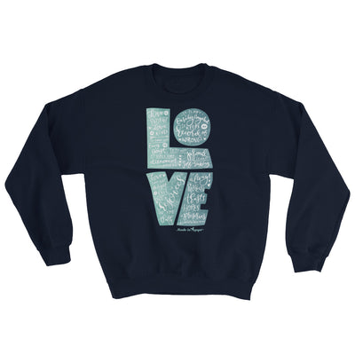 LOVE Is Patient - Men's Sweatshirt-Navy-S-Made In Agapé
