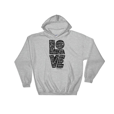 LOVE Is Patient - Men's Hoodie-Sport Grey-S-Made In Agapé