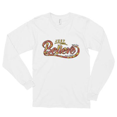 Just Believe - Unisex Long Sleeve Shirt-White-S-Made In Agapé