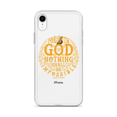 Nothing Impossible With God - iPhone Case-Made In Agapé