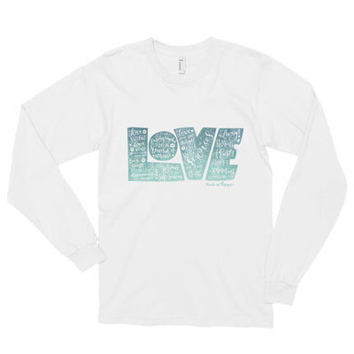 LOVE Protects - Unisex Long Sleeve Shirt-White-S-Made In Agapé