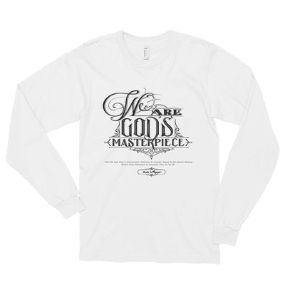 We Are God's Masterpiece - Unisex Long Sleeve Shirt-White-S-Made In Agapé