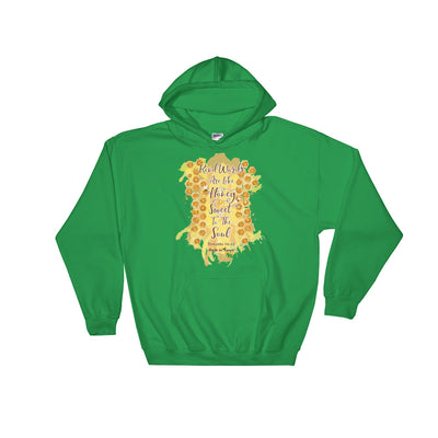 Kind Words Are Like Honey - Women's Hoodie-Irish Green-S-Made In Agapé