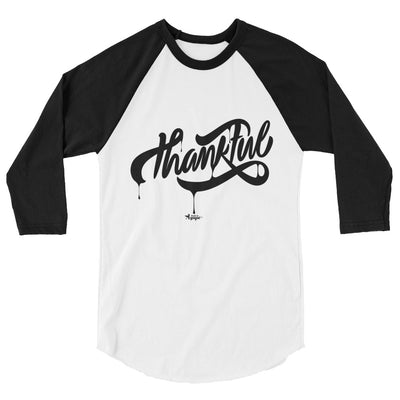 Thankful - Unisex 3/4 Sleeve Raglan Baseball Tee-XS-Made In Agapé