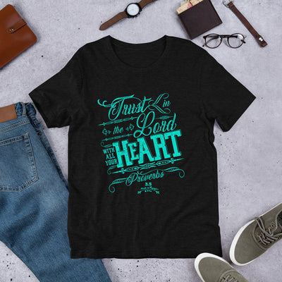 Trust In The Lord - Unisex Crew-Black Heather-XS-Made In Agapé