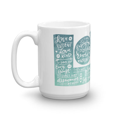 LOVE Protects - Coffee Mug-15oz-Left Handle-Made In Agapé