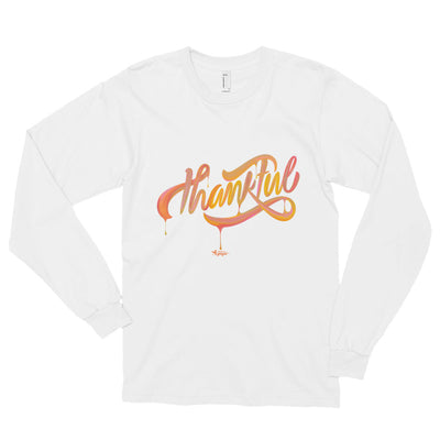 Thankful - Unisex Long Sleeve Shirt-White-S-Made In Agapé