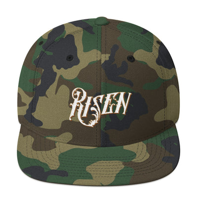 Risen - Snapback Hat-Green Camo-Made In Agapé