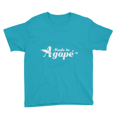 Made In Agapé™ - Youth Short Sleeve Tee-Caribbean Blue-XS-Made In Agapé