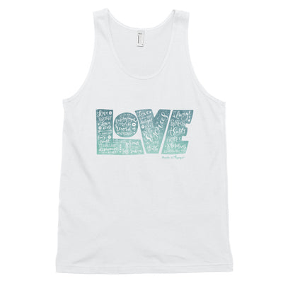 LOVE Protects - Unisex Tank-White-XS-Made In Agapé