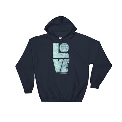 LOVE Is Patient - Men's Hoodie-Navy-S-Made In Agapé