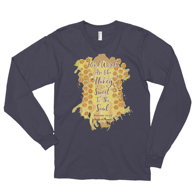 Kind Words Are Like Honey - Unisex Long Sleeve Shirt-Asphalt-S-Made In Agapé