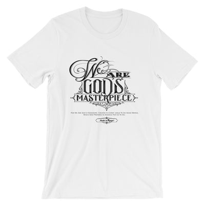 We Are God's Masterpiece - Cozy Fit Short Sleeve Tee-White-XS-Made In Agapé
