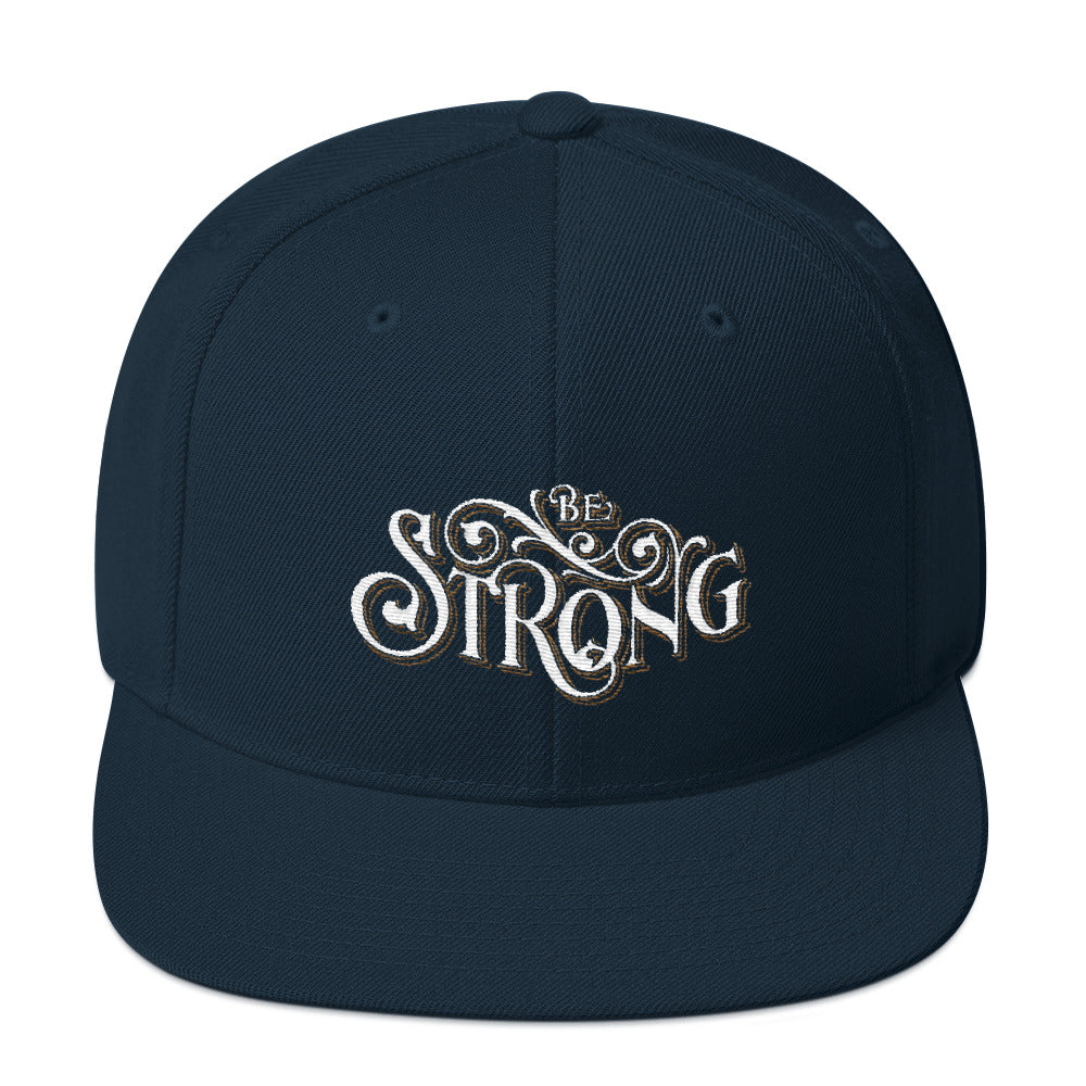 Be Strong - Snapback Hat-Dark Navy-Made In Agapé