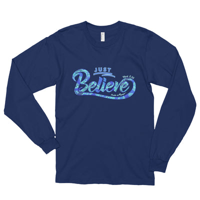 Just Believe - Unisex Long Sleeve Shirt-Navy-S-Made In Agapé