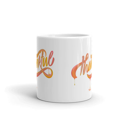 Thankful - Coffee Mug-11oz-Front-Made In Agapé