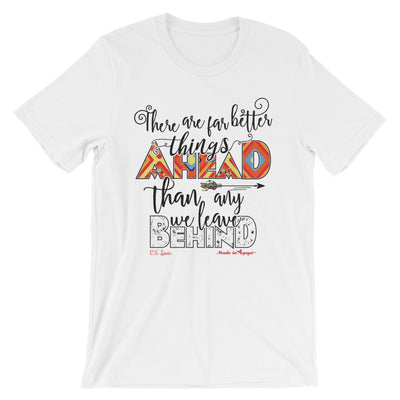 Far Better Things Ahead - Cozy Fit Short Sleeve Tee-White-S-Made In Agapé