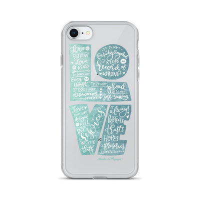 LOVE Is Patient - iPhone Case-iPhone 7/8-Made In Agapé