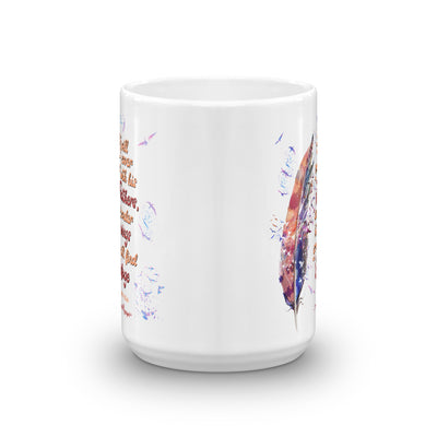 Agapé Feathers and Wings - Coffee Mug-15oz-Front-Made In Agapé