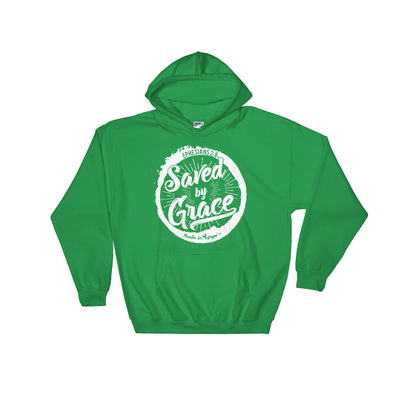 Saved By Grace - Men's Hoodie-Irish Green-S-Made In Agapé