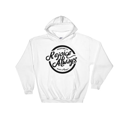 Rejoice Always -Women's Hoodie-White-S-Made In Agapé