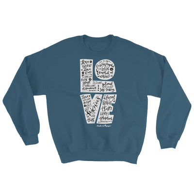 LOVE Is Patient - Men's Sweatshirt-Indigo Blue-S-Made In Agapé