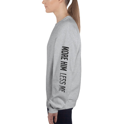 More Him Less Me - Women's Sweatshirt-Sport Grey-S-Made In Agapé