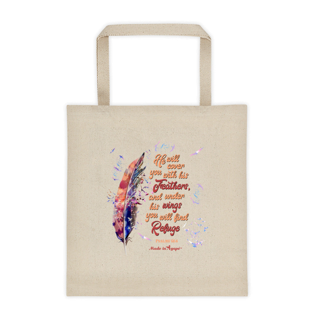 Agapé Feathers and Wings - Tote Bag-Made In Agapé