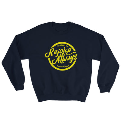 Rejoice Always - Women's Sweatshirt-Navy-S-Made In Agapé
