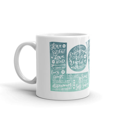 LOVE Protects - Coffee Mug-11oz-Left Handle-Made In Agapé