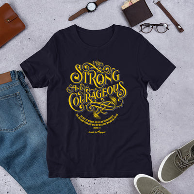 Be Strong and Courageous - Unisex Crew-Navy-XS-Made In Agapé