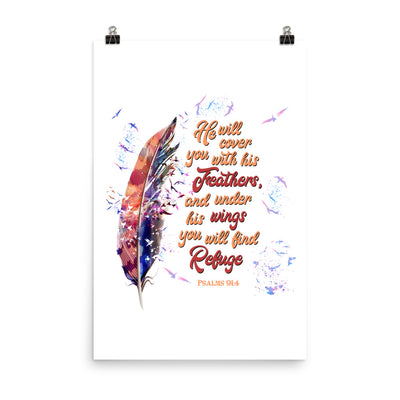Agapé Feathers And Wings - Poster-24×36-Made In Agapé