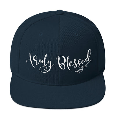 Truly Blessed - Snapback Hat-Dark Navy-Made In Agapé