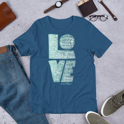 LOVE Is Patient - Unisex Crew-Steel Blue-S-Made In Agapé