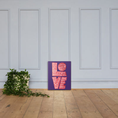 Love Is Patient - Canvas Wall Art-16×20-Made In Agapé