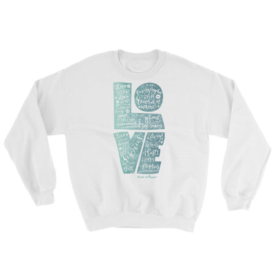 LOVE Is Patient - Women's Sweatshirt-White-S-Made In Agapé