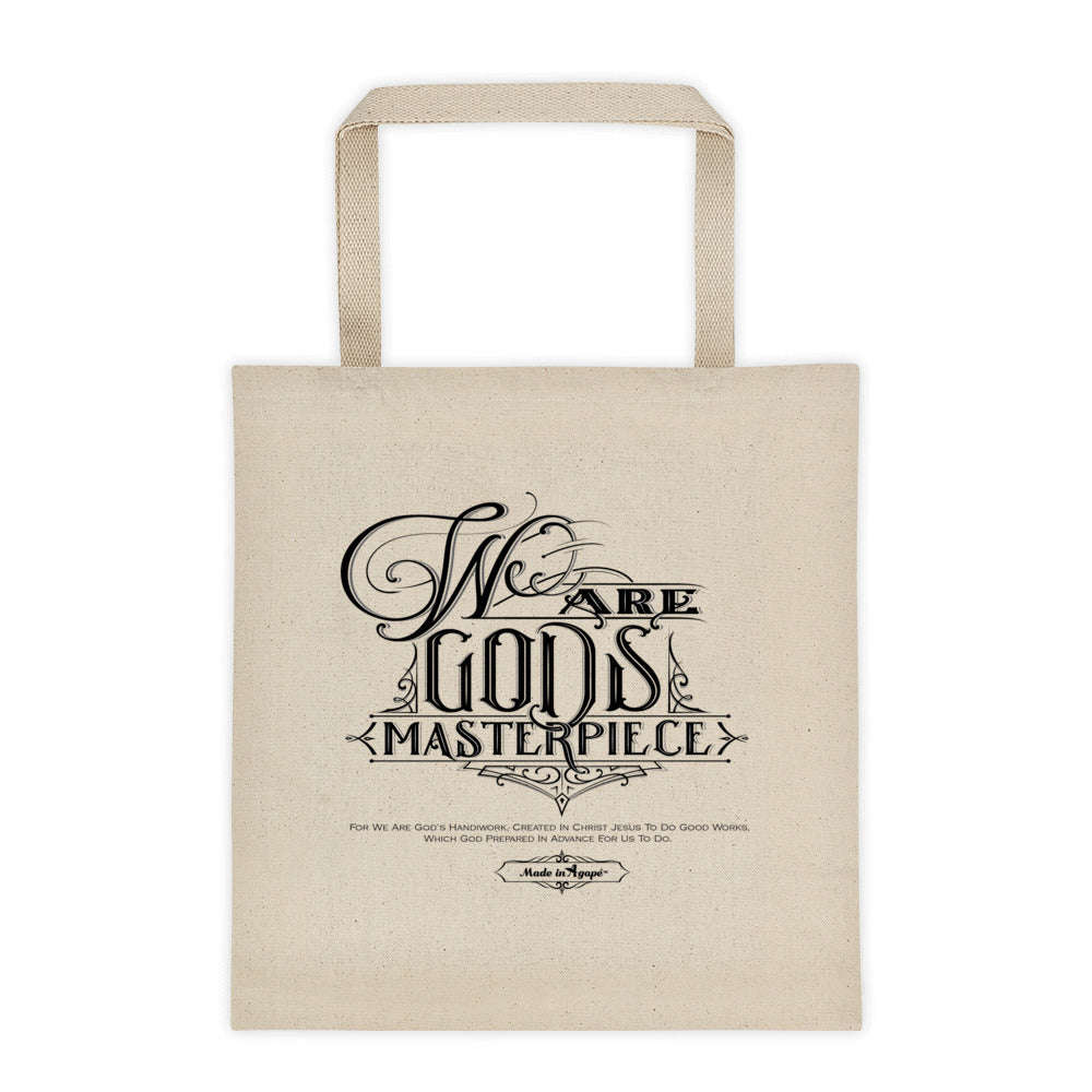 We Are God's Masterpiece - Tote Bag-Made In Agapé