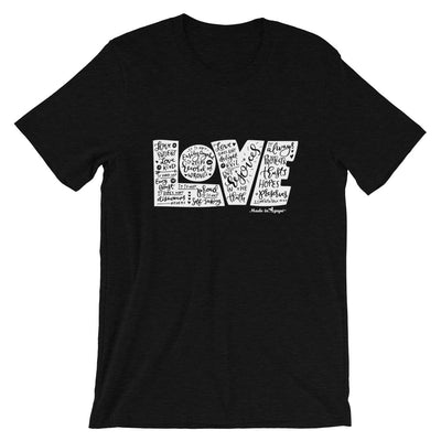LOVE Protects - Cozy Fit Short Sleeve Tee-Black Heather-XS-Made In Agapé