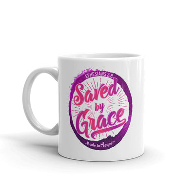 Saved By Grace - Coffee Mug-11oz-Left Handle-Made In Agapé