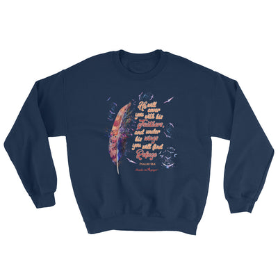 Agapé Feathers And Wings - Women's Sweatshirt-Navy-S-Made In Agapé
