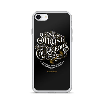 Be Strong And Courageous - iPhone Case-iPhone 7/8-Made In Agapé