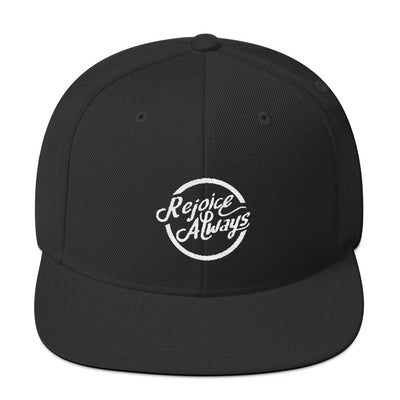 Rejoice Always - Snapback Hat-Black-Made In Agapé