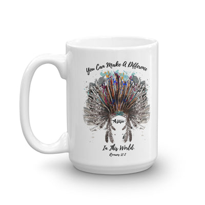 Make A Difference In This World - Coffee Mug-15oz-Left Handle-Made In Agapé