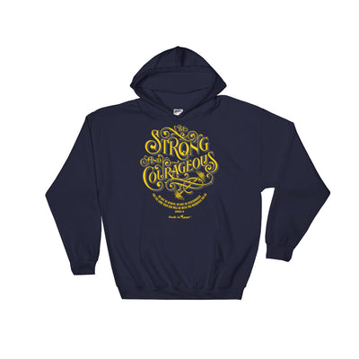 Be Strong And Courageous - Women's Hoodie-Navy-S-Made In Agapé