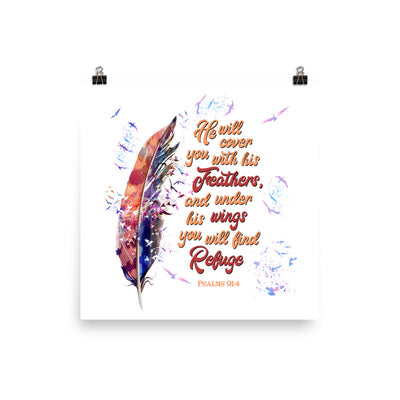 Agapé Feathers And Wings - Poster-12×12-Made In Agapé