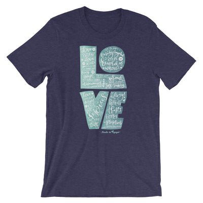 LOVE is Patient - Cozy Fit Short Sleeve Tee-Heather Midnight Navy-XS-Made In Agapé