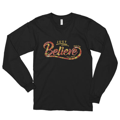 Just Believe - Unisex Long Sleeve Shirt-Black-S-Made In Agapé