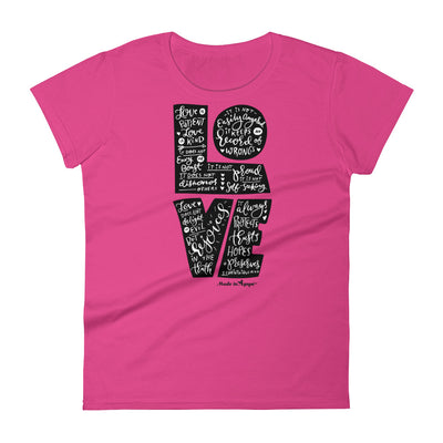 LOVE Is Patient - Ladies' Fit Tee-Hot Pink-S-Made In Agapé