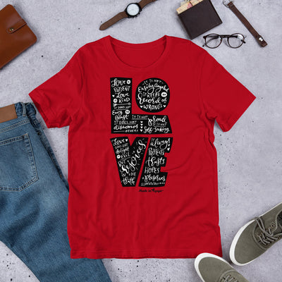 LOVE Is Patient - Unisex Crew-Red-S-Made In Agapé
